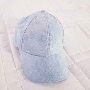 U2B | Baby Blue Suede Baseball Hat Cap
